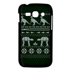 Holiday Party Attire Ugly Christmas Green Background Samsung Galaxy Ace 3 S7272 Hardshell Case