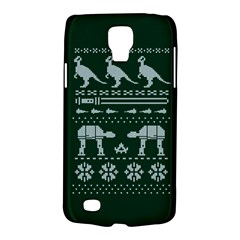 Holiday Party Attire Ugly Christmas Green Background Galaxy S4 Active
