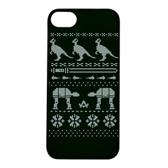 Holiday Party Attire Ugly Christmas Green Background Apple iPhone 5S/ SE Hardshell Case