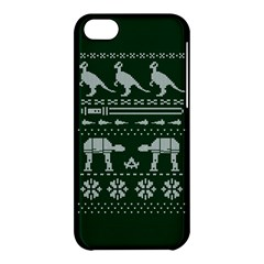 Holiday Party Attire Ugly Christmas Green Background Apple iPhone 5C Hardshell Case
