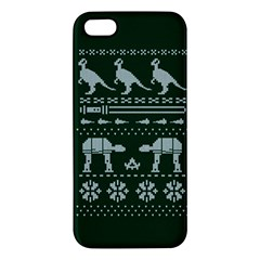 Holiday Party Attire Ugly Christmas Green Background iPhone 5S/ SE Premium Hardshell Case
