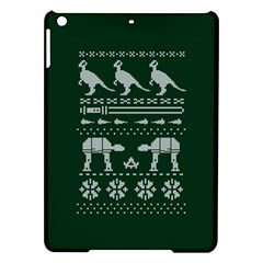 Holiday Party Attire Ugly Christmas Green Background Ipad Air Hardshell Cases