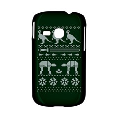 Holiday Party Attire Ugly Christmas Green Background Samsung Galaxy S6310 Hardshell Case