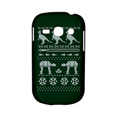 Holiday Party Attire Ugly Christmas Green Background Samsung Galaxy S6810 Hardshell Case