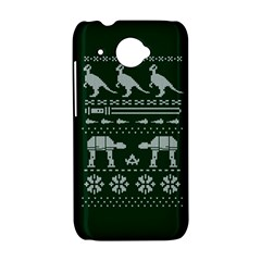 Holiday Party Attire Ugly Christmas Green Background HTC Desire 601 Hardshell Case