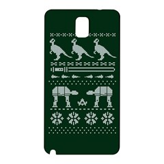 Holiday Party Attire Ugly Christmas Green Background Samsung Galaxy Note 3 N9005 Hardshell Back Case