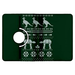 Holiday Party Attire Ugly Christmas Green Background Kindle Fire HDX Flip 360 Case