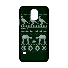 Holiday Party Attire Ugly Christmas Green Background Samsung Galaxy S5 Hardshell Case