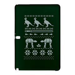 Holiday Party Attire Ugly Christmas Green Background Samsung Galaxy Tab Pro 10.1 Hardshell Case