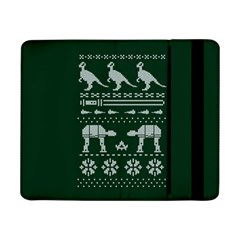 Holiday Party Attire Ugly Christmas Green Background Samsung Galaxy Tab Pro 8.4  Flip Case