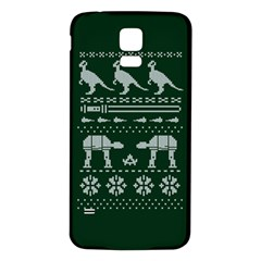 Holiday Party Attire Ugly Christmas Green Background Samsung Galaxy S5 Back Case (White)