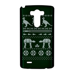 Holiday Party Attire Ugly Christmas Green Background LG G3 Hardshell Case