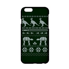 Holiday Party Attire Ugly Christmas Green Background Apple iPhone 6/6S Hardshell Case