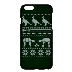 Holiday Party Attire Ugly Christmas Green Background Apple iPhone 6 Plus/6S Plus Hardshell Case