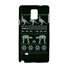 Holiday Party Attire Ugly Christmas Green Background Samsung Galaxy Note 4 Hardshell Case