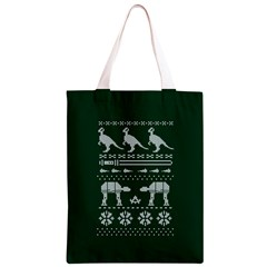Holiday Party Attire Ugly Christmas Green Background Classic Light Tote Bag