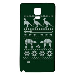 Holiday Party Attire Ugly Christmas Green Background Galaxy Note 4 Back Case