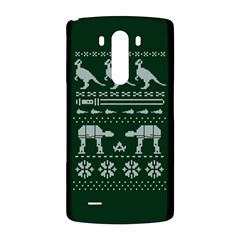 Holiday Party Attire Ugly Christmas Green Background LG G3 Back Case