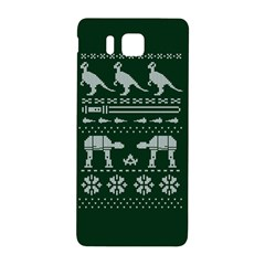 Holiday Party Attire Ugly Christmas Green Background Samsung Galaxy Alpha Hardshell Back Case