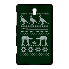 Holiday Party Attire Ugly Christmas Green Background Samsung Galaxy Tab S (8.4 ) Hardshell Case