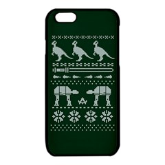 Holiday Party Attire Ugly Christmas Green Background iPhone 6/6S TPU Case