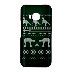 Holiday Party Attire Ugly Christmas Green Background HTC One M9 Hardshell Case