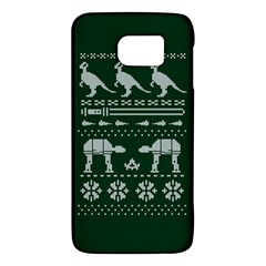 Holiday Party Attire Ugly Christmas Green Background Galaxy S6