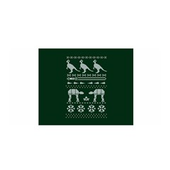 Holiday Party Attire Ugly Christmas Green Background Satin Wrap