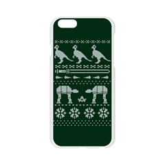 Holiday Party Attire Ugly Christmas Green Background Apple Seamless iPhone 6/6S Case (Transparent)