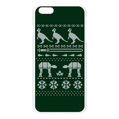 Holiday Party Attire Ugly Christmas Green Background Apple Seamless iPhone 6 Plus/6S Plus Case (Transparent)