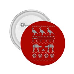 Holiday Party Attire Ugly Christmas Red Background 2.25  Buttons
