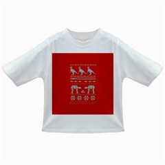 Holiday Party Attire Ugly Christmas Red Background Infant/Toddler T-Shirts
