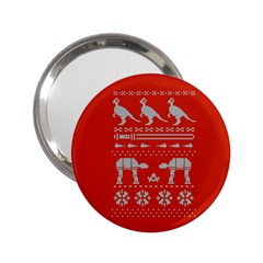 Holiday Party Attire Ugly Christmas Red Background 2.25  Handbag Mirrors
