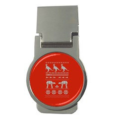 Holiday Party Attire Ugly Christmas Red Background Money Clips (Round)