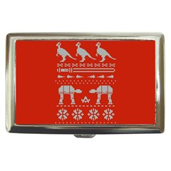Holiday Party Attire Ugly Christmas Red Background Cigarette Money Cases