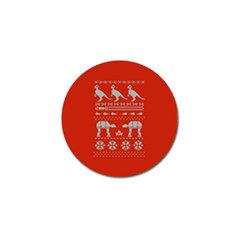 Holiday Party Attire Ugly Christmas Red Background Golf Ball Marker (4 pack)