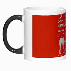 Holiday Party Attire Ugly Christmas Red Background Morph Mugs