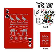 Holiday Party Attire Ugly Christmas Red Background Playing Cards 54 Designs