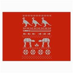 Holiday Party Attire Ugly Christmas Red Background Collage Prints