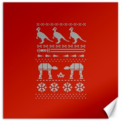 Holiday Party Attire Ugly Christmas Red Background Canvas 12  x 12