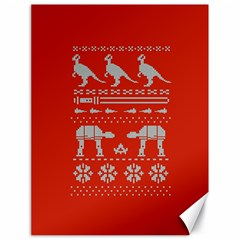 Holiday Party Attire Ugly Christmas Red Background Canvas 18  x 24