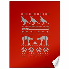 Holiday Party Attire Ugly Christmas Red Background Canvas 36  x 48