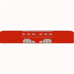 Holiday Party Attire Ugly Christmas Red Background Small Bar Mats