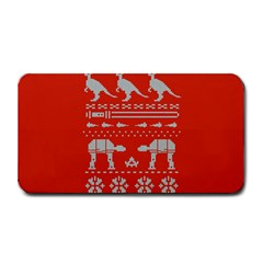 Holiday Party Attire Ugly Christmas Red Background Medium Bar Mats