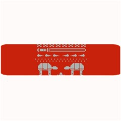Holiday Party Attire Ugly Christmas Red Background Large Bar Mats