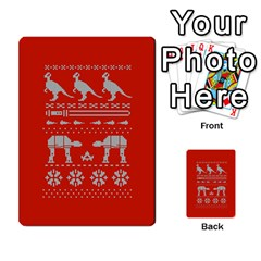 Holiday Party Attire Ugly Christmas Red Background Multi Purpose Cards (rectangle)