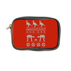 Holiday Party Attire Ugly Christmas Red Background Coin Purse