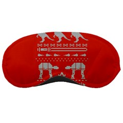 Holiday Party Attire Ugly Christmas Red Background Sleeping Masks