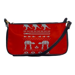 Holiday Party Attire Ugly Christmas Red Background Shoulder Clutch Bags