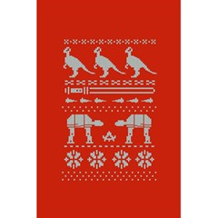 Holiday Party Attire Ugly Christmas Red Background 5 5  X 8 5  Notebooks